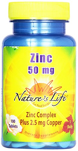 Nature's Life Zinc , 50 Mg, 100 Tablets, (Pack of 2)