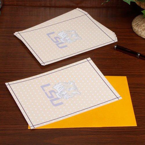 NCAA LSU Tigers 10-Pack Gold Polka Dot Imprintables Card & Envelope Set - Lsu 10k Tigers