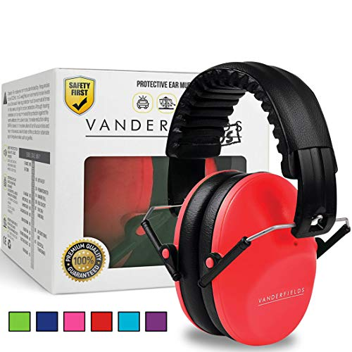 328bfbe2ce3 Vanderfields Earmuffs for Kids – Hearing Protection Muffs For Children  Small Adults Women – Foldable Design