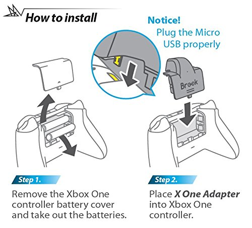 Amazon com: Mcbazel X One Adapter for Xbox One Controller to