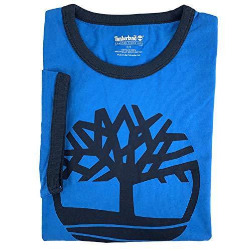 (Timberland Men's Short Sleeve Tree Logo Ringer T-Shirt (Royal Blue, XX-Large))
