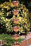 Monarch Pure Copper Lotus Rain Chain, 8-1/2-Feet