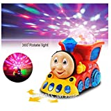 MousePotato Bump & Go Toy Train with 4D Lights and Music (Assorted Colours)