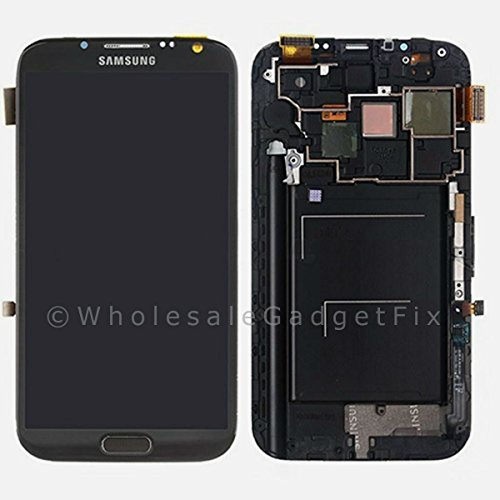 ePartSolution_Samsung Galaxy Note 2 N7105 T889 i317 LCD Touch Screen Digitizer Assembly With Frame Housing Gray Replacement Part USA Seller
