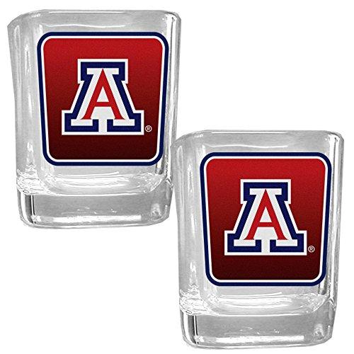 NCAA Arizona Wildcats Square Glass Shot Glass Set
