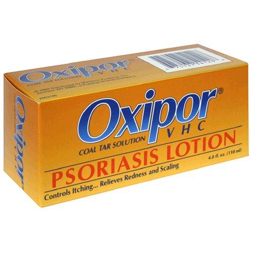 Oxipor lotion, solution de goudron de houille Psoriasis VHC, bouteille de 4 onces