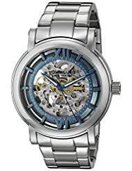 Stuhrling Original Men's 426.33116 Classic Winchester XT Automatic Skeleton Blue Dial Stainless Steel Bacelet Watch