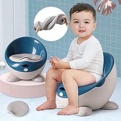 beweglicher Baby-Potty Training WC-Sitz mit PU-Weich Kissen Potty Stuhl herausnehmbarer Innen Potty verstellbare H/öhe f/ür Kleinkind-Jungen und M/ädchen,Blau Antirutschf/ü/ße