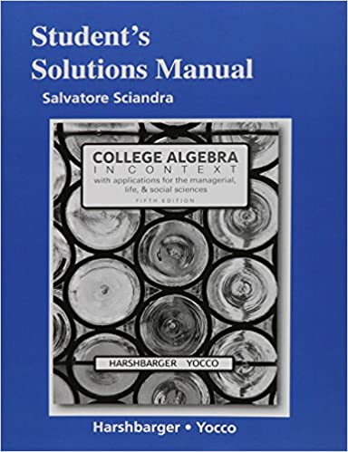 Students solutions manual for college algebra in context ronald j students solutions manual for college algebra in context 5th edition fandeluxe Image collections