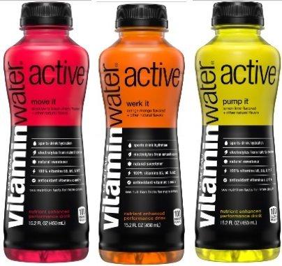 VitaminWater Active 15.2oz Bottles (3 Flavor Sampler 12 Pack)