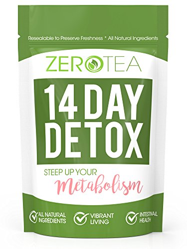 Zero Tea 14 Day Detox Tea, Weight Loss Tea, Teatox Herbal Tea For Cleanse