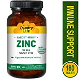 Country Life Target-Mins Zinc (50mg) 180 tabs
