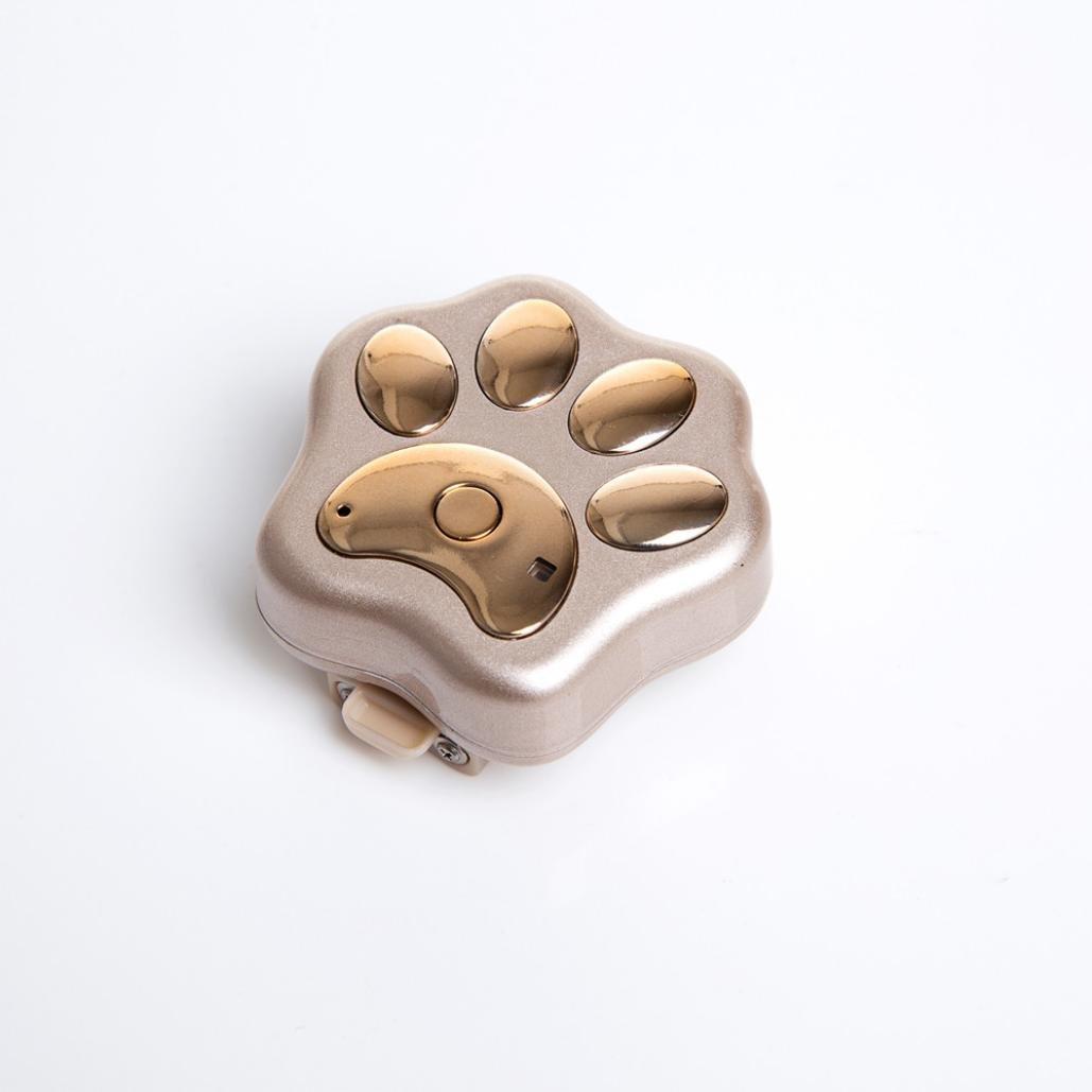 GPS Pet Tracker, Sacow Smart WiFi Pet GPS Tracker Remote Wireless Finder Dog Cat Collar Locator SCA (Gold)