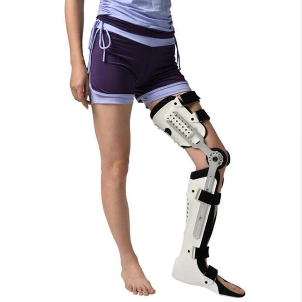 YC° Knee Brace, Knee Ankle Foot Orthosis KAFO Brace Fixed Stiff Thigh Knee Joint Ankle Foot Spport and Ankle Fixator,(Left Leg Right Leg),Leftleg
