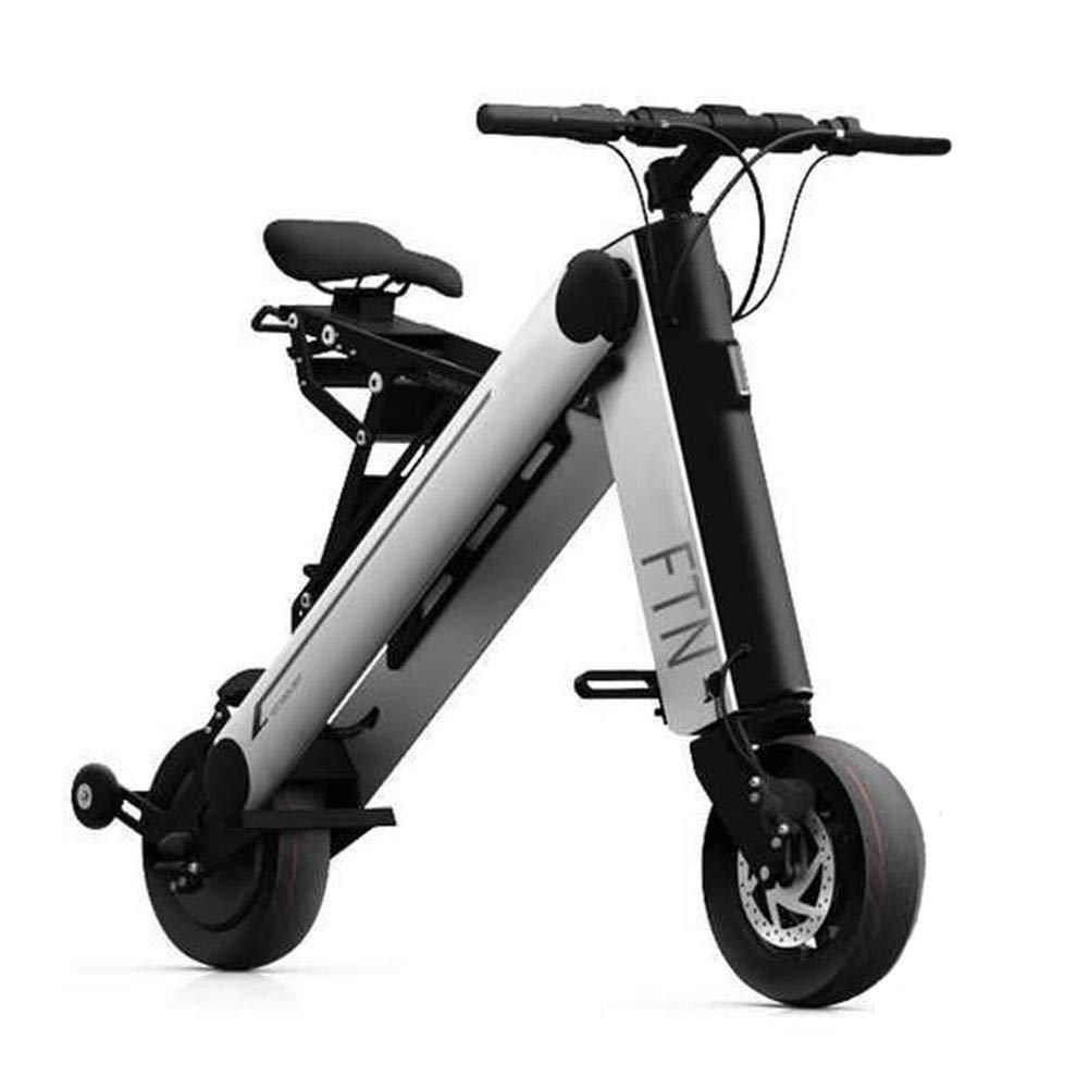 36Vリチウムイオン電池が付いている大人のための電気自転車の軽量の携帯用アルミニウム折る材料10インチは大人の持久力のマイレッジ30-35KMのための電気バイクを動かします,グレー