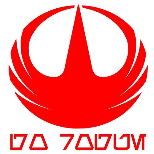 UR Impressions Red Rogue One Starbird - Go Rogue Aurebesh Decal Vinyl Sticker Graphics for Cars Trucks SUV Vans Walls Windows Laptop|RED|5.5 X 5.4 Inch|URI341 -