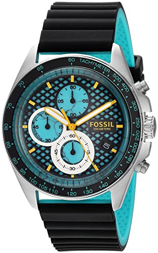 Fossil Men's CH3091 Sport 54 Chronograph Black Silicone Watch
