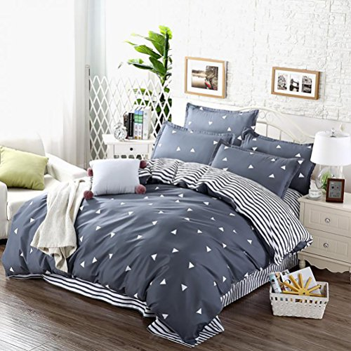Uozzi Bedding 3 Piece Triangle Duvet Cover Sets