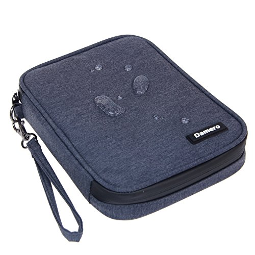 Damero USB Flash Drive Bag for SD Cards, Power Banks, Memory Cards/Waterproof External Hard Drive Case (Large, Dark Blue) by Damero (Image #6)