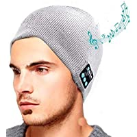Wool hat with Bluetooth headset