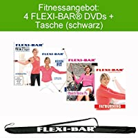 4 FLEXI-BAR® DVDs + Flexi-Bag (schwarz)