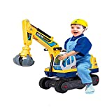 COLORTREE Ride-on Pretend Play Construction Truck Toy for Children