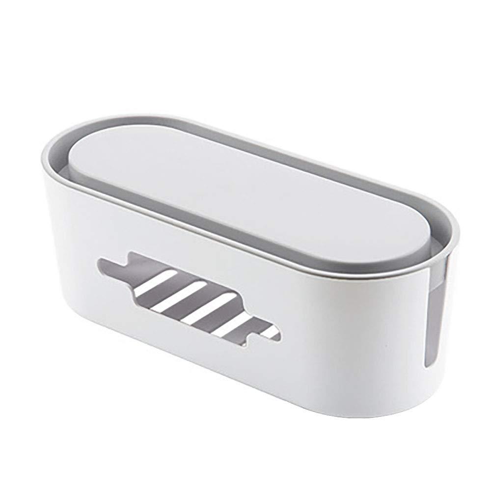 Glsmile Cavo Tidy Box,Creative Multi-funzione Plug Storage Box Desktop Cavo di alimentazione Scheda plug-in Caricabatterie Computer Presa di alimentazione Scatola cavi Gestione cavo