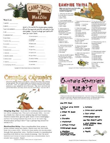 Printable Camping Games Pack Download