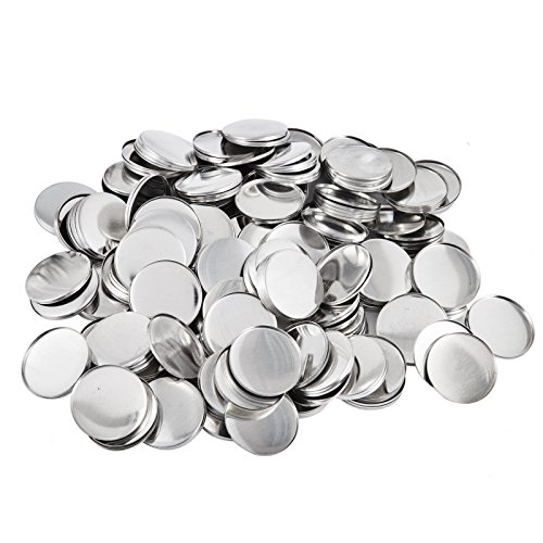 Mophorn Button Parts 25mm 1 Inch Button Parts 2000 Pcs Button Maker Parts Top/Bottom Cover Clip Pin Button Parts for Badge Maker Machine ()