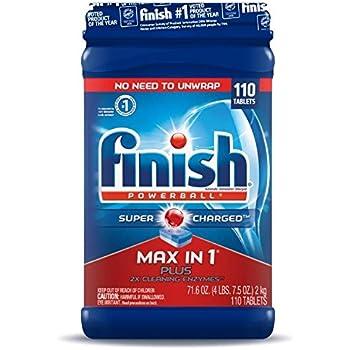 Amazon.com: Finish Max in 1 Plus Dishwasher Detergent 110