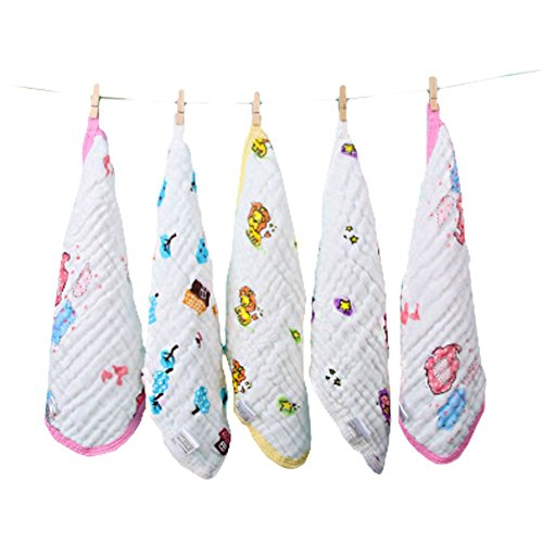 Baby Washcloths 6 Ultra-Soft 100% Organic Cotton Baby Washcloth Face Towels Muslin Newborn Adult Wash Cloth 5pcs Baby Shower Gift Baby Registry Welcome Gift Must Haves for Boys & Girls
