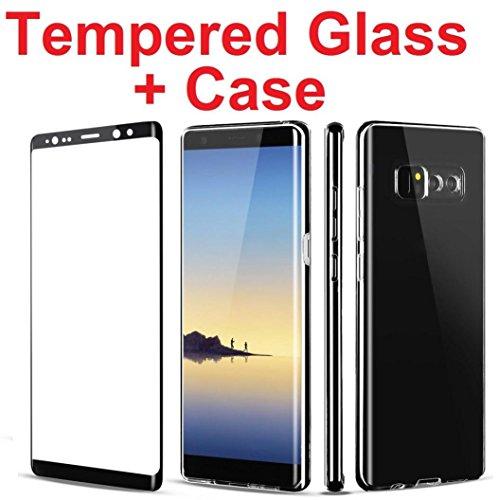 Hunpta Voller gedeckter Glasschirm-Schutz + freier Fall für Galaxy Note 8 Schwarz FcX1DXcg