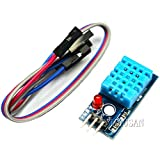 Partstower 2pcs DHT11 Digital Temperature Relative Humidity Sensor Module Probe Single Bus Module for Arduino Raspberry