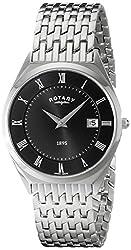 Rotary Men's gb08000/04 Analog Display Swiss Quartz Silver Watch