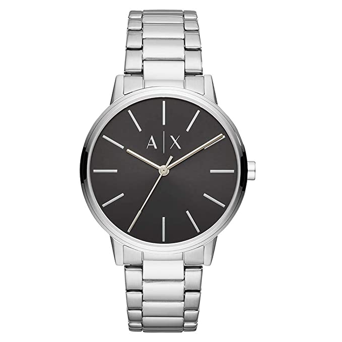 Amazon.com: Armani Exchange Mens Cayde Quartz Stainless Steel Watch, Color:Silver-Toned (Model: AX2700): Armani Exchange: Watches