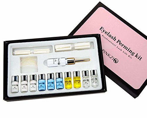 - Pinkzio Premium Eyelash Perm Kit Full Eyelash Lift Kit For Professional Use, 15 in 1 Salon Lashlift Eyelash Perming kit