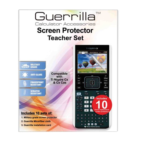 Guerrilla TI NSPIRE CX Screen Protectors – Classroom Pack