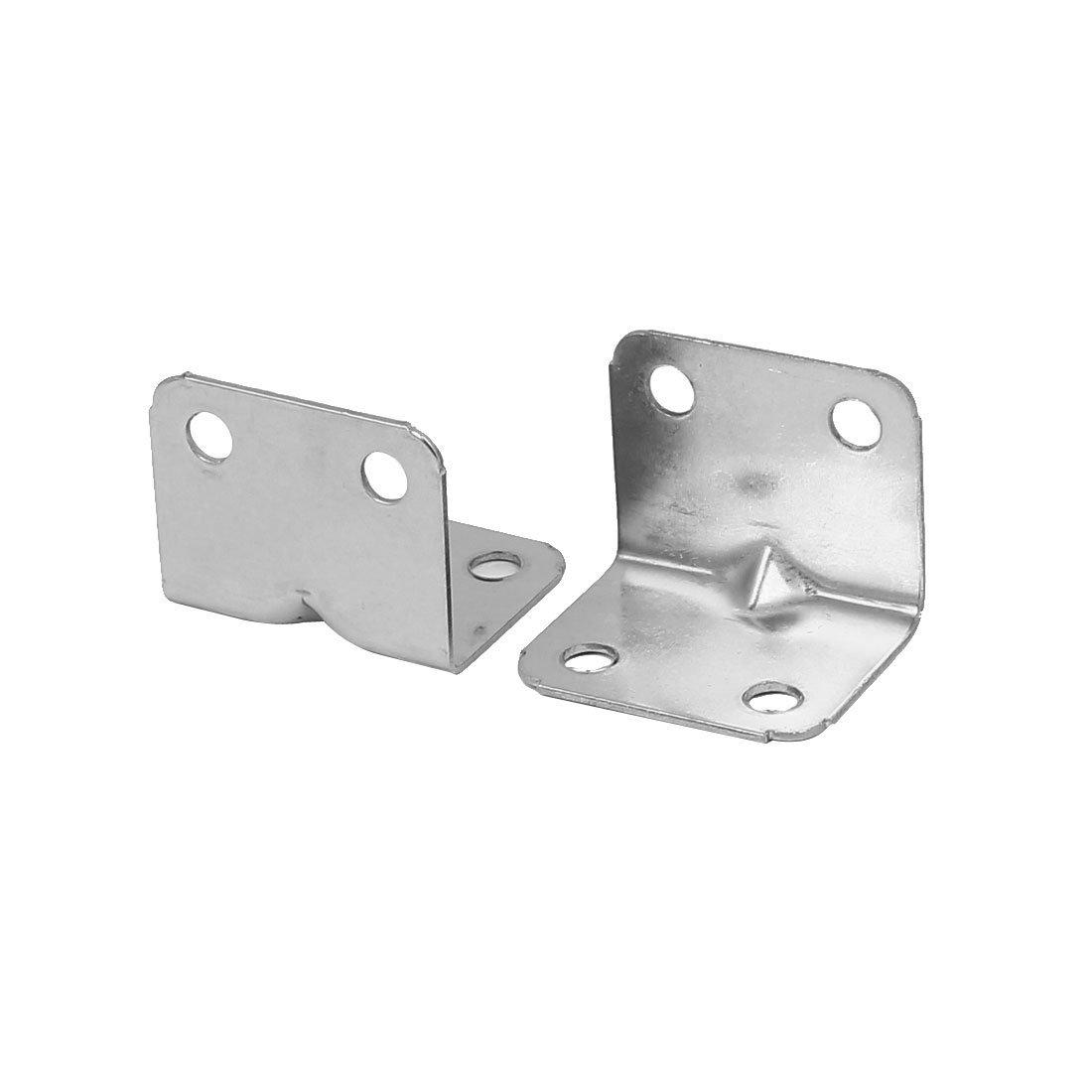 eDealMax 25mmx25mmx32mm L Forma ángulo del soporte de soporte de articulación del sujetador 12pcs tono de plata - - Amazon.com