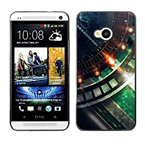 Hot Style Cell Phone PC Hard Case Cover // M00100027 abstract fastburndetail // HTC One M7