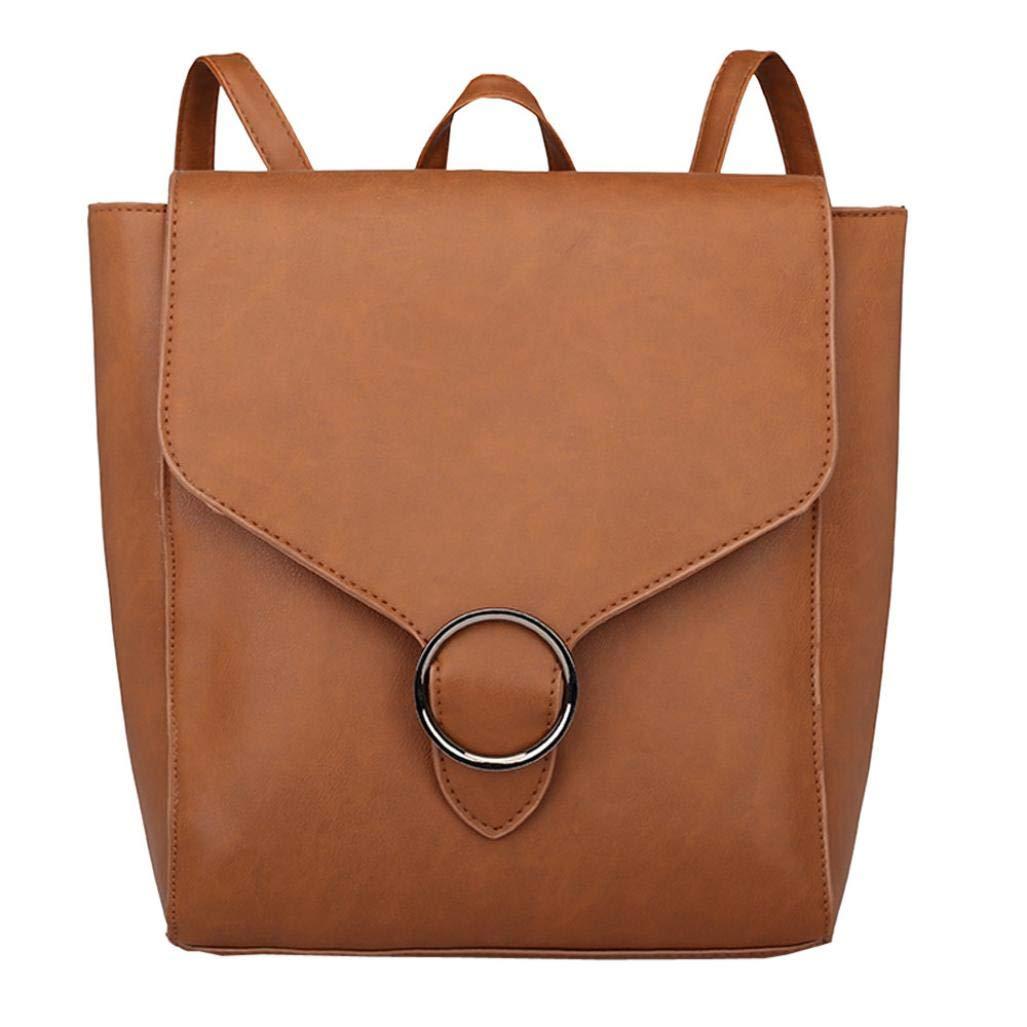 Shoulder Bags for Women,iOPQO vintage student leather school bag Tote backpack