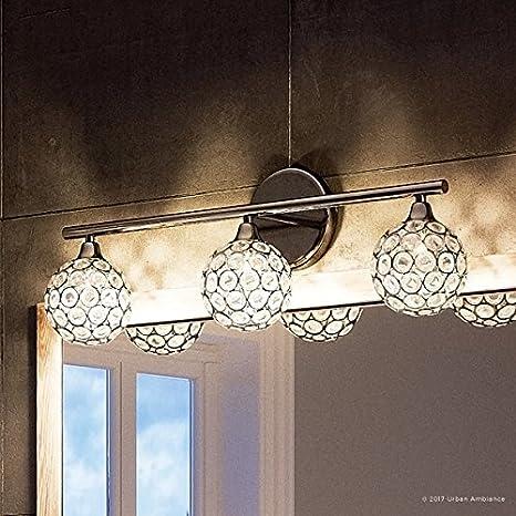 Luxury Crystal Globe Bathroom Vanity Light Medium Size 8 H X 23 W