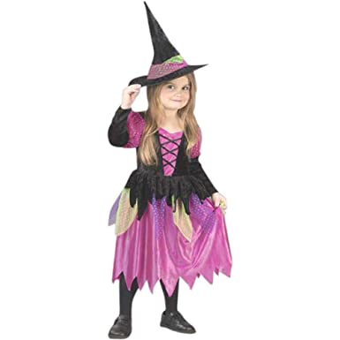 Toddler Rainbow Witch Costume (Size 2T)  sc 1 st  Amazon.com & Amazon.com: Toddler Rainbow Witch Costume (Size: 2T): Clothing