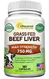 Grass Fed Beef Liver (Desiccated) – 180 Capsules – Argentine Pasture-Raised Beef Liver Pills – 3000mg Supplement Powder Per Serving – Natural Iron, B12, Vitamin A for Energy – Non-GMO For Sale