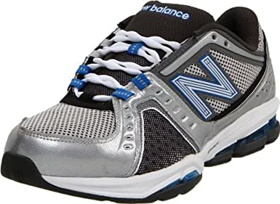 New Balance Men's MX1211 Fitness Conditioning Shoe,Silver/Blue,7.5 4E US