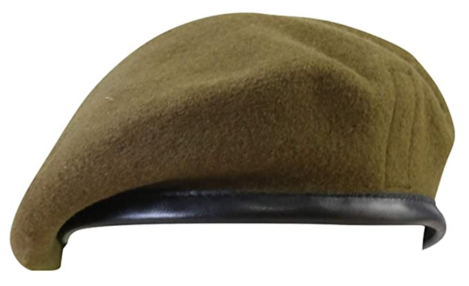 d6f04ebc Genuine British Army Issue Khaki Beret: Amazon.co.uk: Clothing