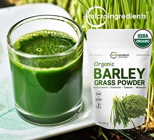 Sustainably Us Grown Organic Barley Grass Powder 8 Ounce