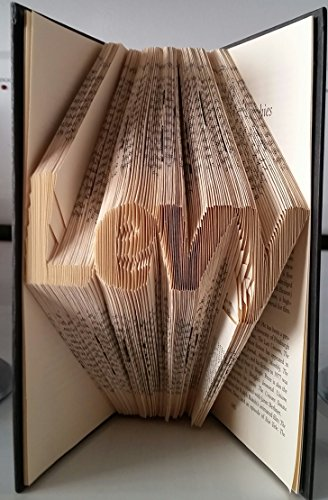 FREE SHIPPING! 3-4 letters of your choice. Custom handmade folded book sculpture. Perfect for any - Shipping Tracking Economy