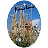 CafePress - Barcelona_5.5X8.5_Journal_Lasagrdafa - Oval Holiday Christmas Ornament