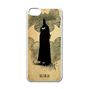 Batman Justice League Minimalist iPhone 5C Cases, Girl Protective Phone Case For Iphone 5c Yearinspace {White}