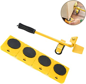 CHIFAN Furniture Lifter Transport Tools 1 Lifting Rod and 4 Furniture Slides Move Up to 150 KG//330 LBS Perfect for Wardrobe//Washing Machine//Dryer//Sofa